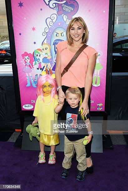 Ava Priestley Naomi Priestley and Dashiell Priestley arrive at the My Little Pony Equestria Girls premiere during the 2013 Los Angeles Film Festival...