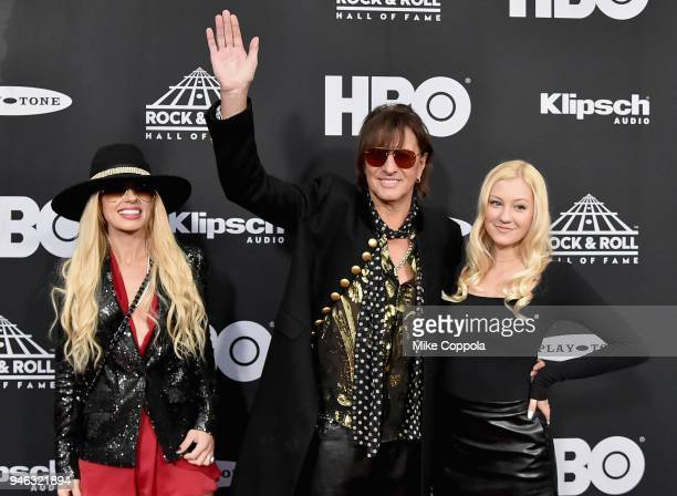 Ava Sambora inductee Richie Sambora of Bon Jovi and Orianthi attend the 33rd Annual Rock Roll Hall of Fame Induction Ceremony at Public Auditorium on...