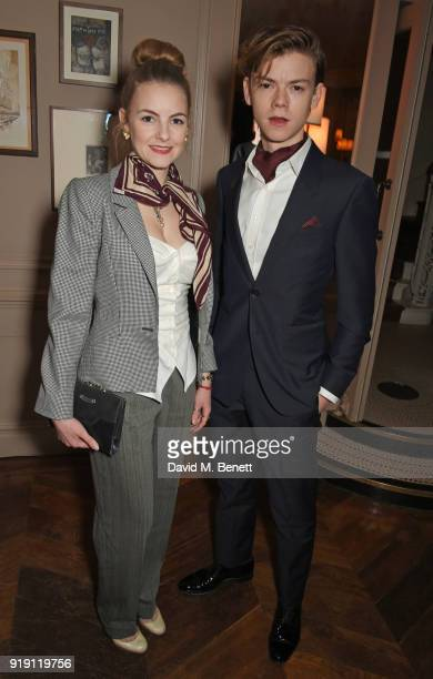 Ava Sangster and Thomas BrodieSangster attend Grey Goose Vodka and GQ Style's dinner in celebration of film and fashion at Kettner's on February 16...
