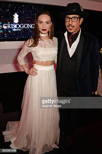 Ava West and Dino Magis attend the de Grisogono party during the 69th Cannes Film Festival at Hotel du CapEdenRoc on May 17 2016 in Cap d'Antibes...