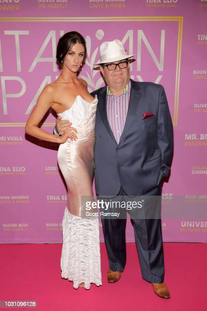 Avaah Blackwell and Gino Bravo attend The Italian Party during 2018 Toronto International Film Festival celebrating Excelsis movie at Aqualina at...