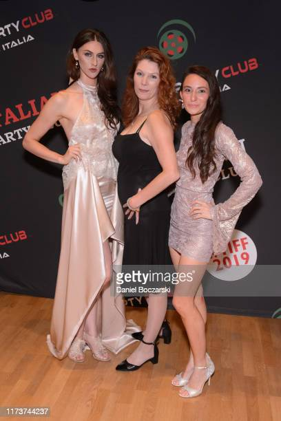 Avaah Blackwell Stephanie Jones and Kathryn Aboya attend the Italian Party Club at TIFF 2019 at Artscape Daniels on September 10 2019 in Toronto...