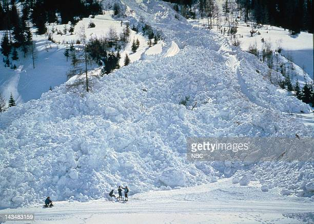 SPECIAL 'Avalanche The White Death' Aired Pictured Avalanche aftermath and wreckage