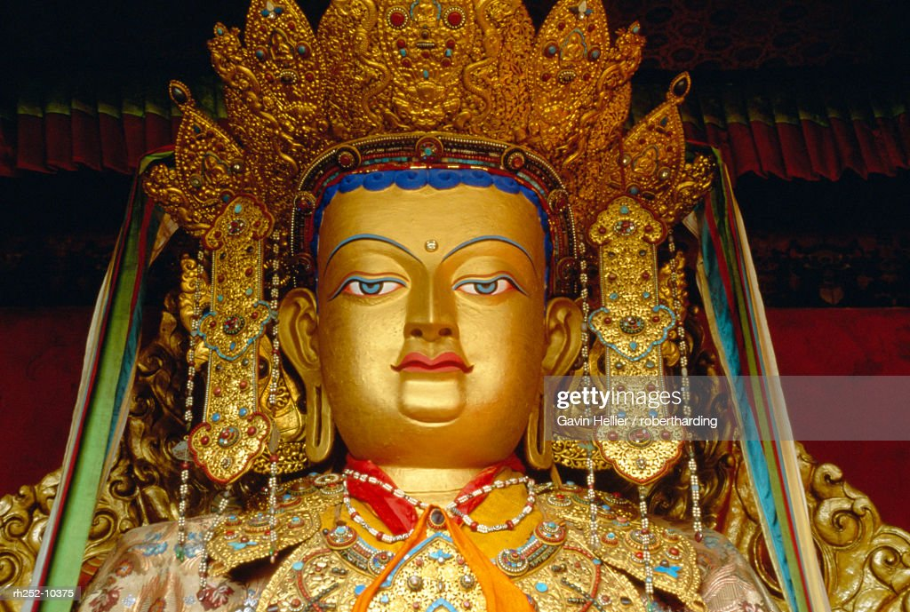 Avalokitesvara, the Bodhisattva of compassion, Lhasa, Tibet, China, Asia : Foto de stock