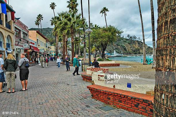 Avalon Beach side shops Santa Catalina Island