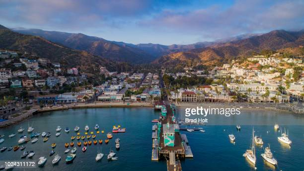 avalon, ca - catalina island stock photos and pictures
