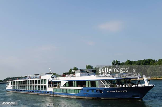 avalon felicity cruise ship on the rhine river - ogphoto stock pictures, royalty-free photos & images