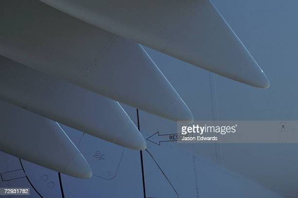 An abstract view of a airforce transport C17A Globemaster III wing.