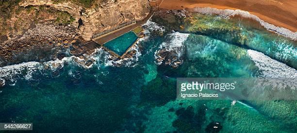 Avalon rock pool aerial