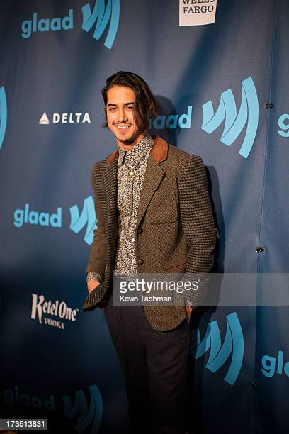 Avan Jogia attends the 24th annual GLAAD Media awards at The New York Marriott Marquis on March 16 2013 in New York City