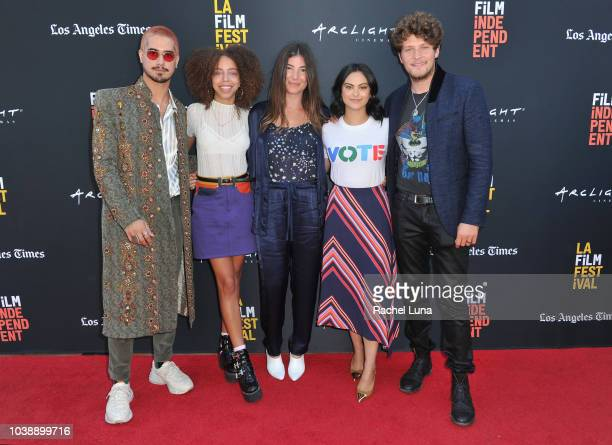 Ivy Matheson Kyle Mann Avan Jogia Hayley Law Carly Stone Camila Mendes and Brett Dier attend the screening of 'The New Romantic' during the 2018 LA...