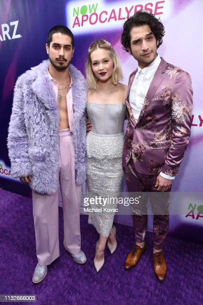 Avan Jogia Kelli Berglund and Tyler Posey attend the Now Apocalypse Los Angeles Premiere at Hollywood Palladium on February 27 2019 in Los Angeles...