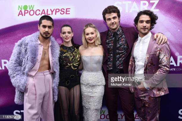 Avan Jogia Roxane Mesquida Kelli Berglund Beau Mirchoff and Tyler Posey attend the Now Apocalypse Los Angeles Premiere at Hollywood Palladium on...