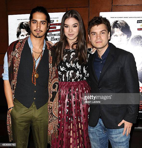 Avan Jogiam Hailee Steinfeld and Emile Hirsch attend the premiere of 'Ten Thousand Saints' at Piknic on August 11 2015 in Century City California