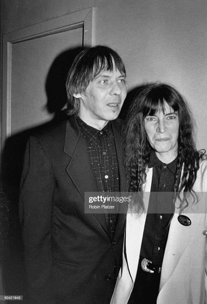 Fred S. Smith [& Wife];Patti Smith : News Photo
