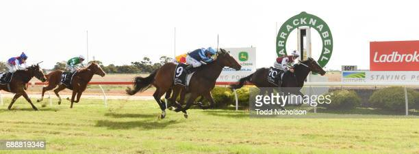 Avanti Rose ridden by Liam Riordan wins Save The Date March 31 2018 Maiden Plate at Warracknabeal Racecourse on May 27 2017 in Warracknabeal Australia