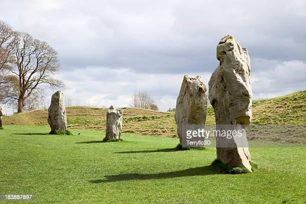 avebury, uk, druid shaped stone - terryfic3d stock pictures, royalty-free photos & images