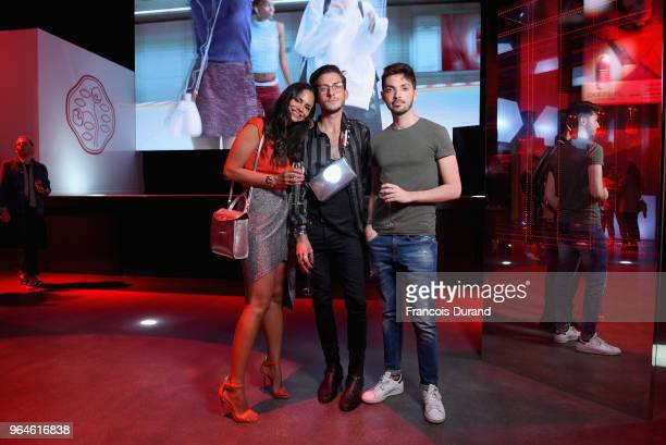 Avec Hannah and some guests attend the #Ultimune Launch Event on May 31 2018 in Paris France