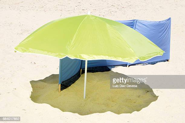 aveiro's costa nova beach (portugal) - viso nascosto foto e immagini stock