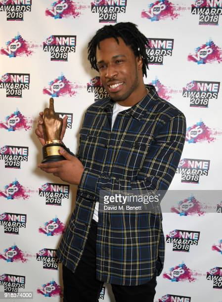 Avelino in the winners room during the VO5 NME Awards held at Brixton Academy on February 14 2018 in London England