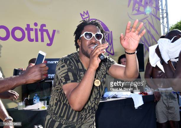 Avelino performs as Spotify Premium throws the ultimate party in Spain for Stormzy's 25th birthday on July 26 2018 in Menorca Spain