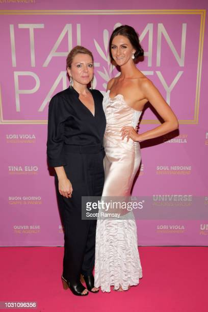 Avelyn Graye and Avaah Blackwell attend The Italian Party during 2018 Toronto International Film Festival celebrating Excelsis movie at Aqualina at...