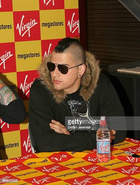 Avenged Sevenfold sign autographs at Virgin megastore on October 14 2007 in London England
