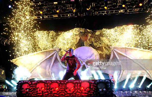 Avenged Sevenfold singer M Shadows performs during the 48 Hours Festival October 15 2011 in Las Vegas Nevada