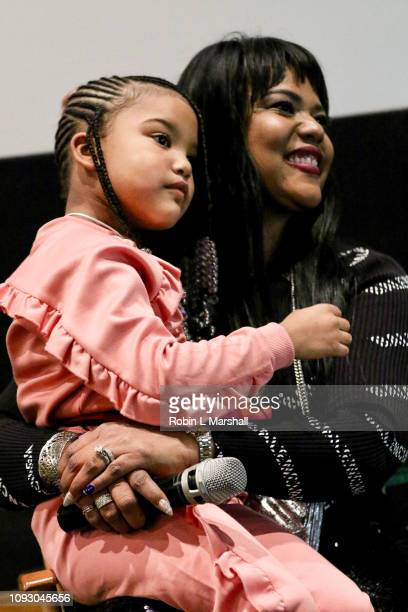 Aventer Gray and daughter attends NAACP Image Awards special screening of OWN's 'The Book Of John Gray' at Raleigh Studios on January 11 2019 in Los...