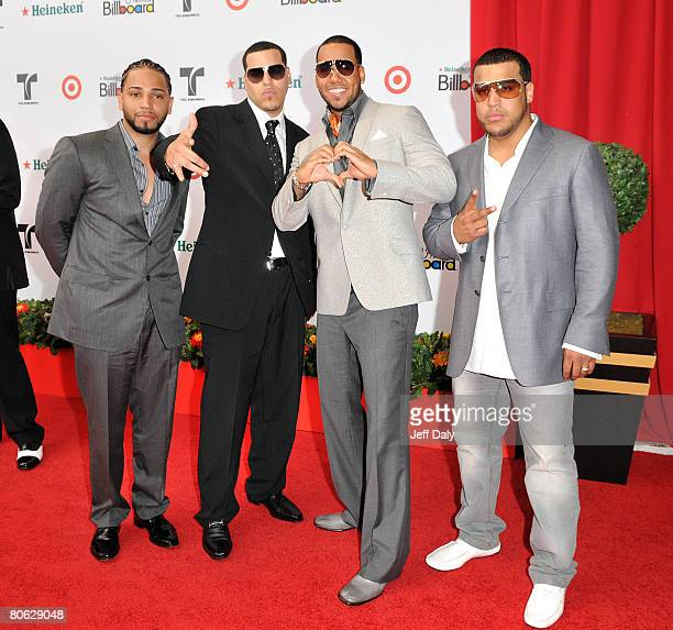 Aventura attends the 2008 Billboard Latin Music Awards at the Seminole Hard Rock Hotel and Casino on April 10 2008 in Hollywood Florida