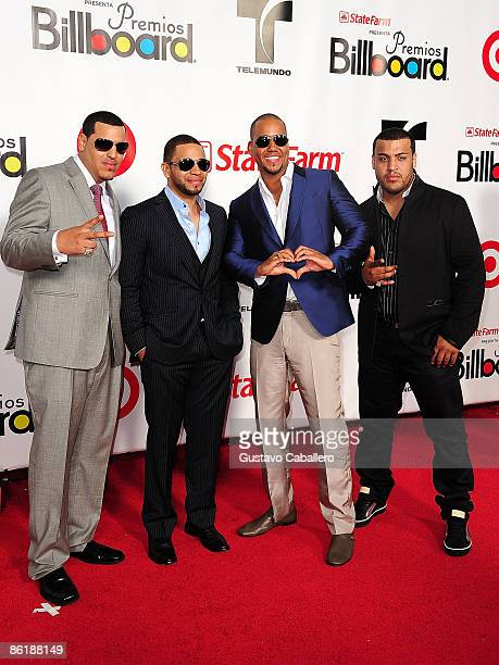 Aventura attends the 2009 Billboard Latin Music Awards at Bank United Center on April 23 2009 in Miami Beach Florida