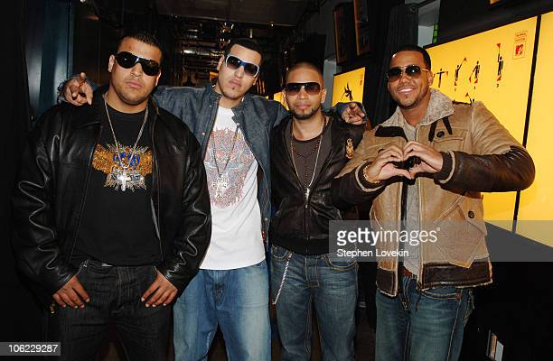 Aventura during Luny Tunes and Aventura Visit MTV's Mi TRL January 12 2007 at MTV Studios in New York City New York United States