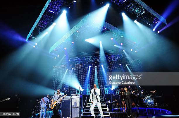 Aventura perform at Hard Rock Live in the Seminole Hard Rock Hotel Casino on July 6 2010 in Hollywood Florida