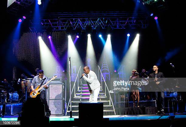 Aventura performs at Hard Rock Live in the Seminole Hard Rock Hotel Casino on July 6 2010 in Hollywood Florida