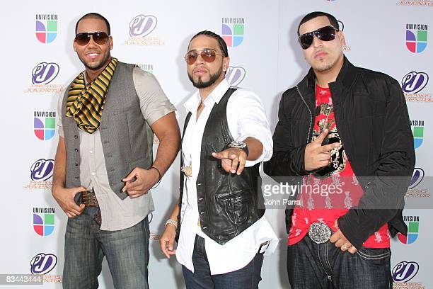 Aventura poses on the red carpet at the Premio Juventud Awards at Bank United Center on July 17 2008 in Miami Florida