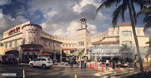 aventura shopping mall, florida, usa - aventura florida stock photos and pictures