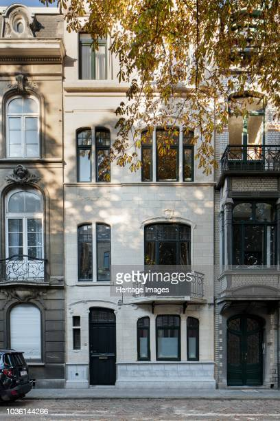 198 Avenue Albert Brussels Belgium c2014c2017 Designed by and for the architect Alfred Frere 1908 Elevation of three levels with white brick facade
