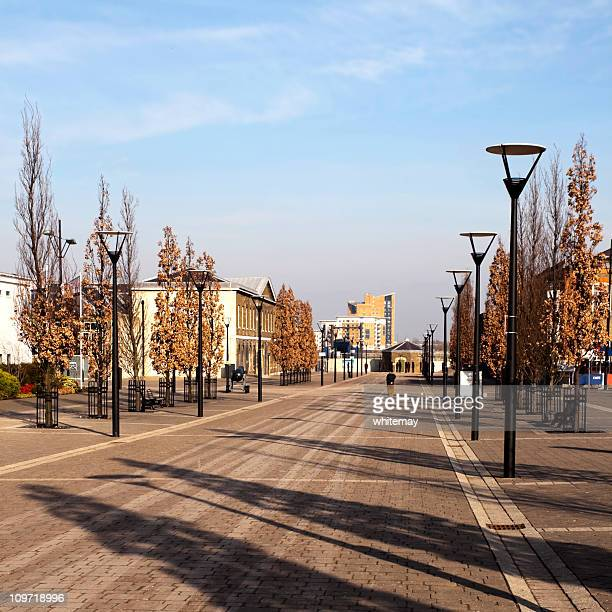 avenue at old woolwich royal arsenal - woolwich stock photos and pictures