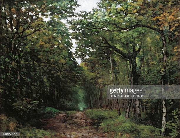 Avenue between the chestnut trees at La Celle Saint Cloud by Alfred Sisley Southampton Southampton City Art Gallery