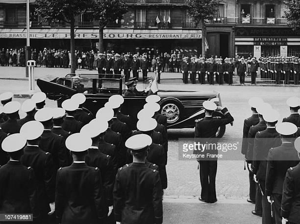 Avenue De La Grande Armee July 14Th Military Parade Aviation Regiment In Paris On 1938