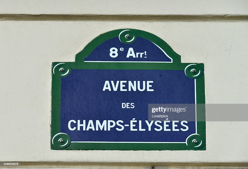 Avenue des Champs-Elysees. France,paris, : Stock Photo