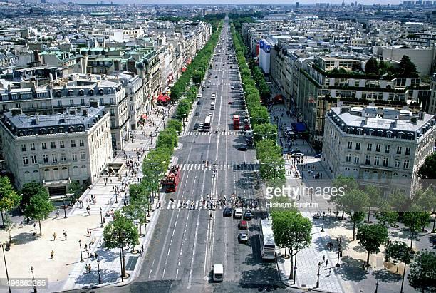 Avenue des Champs-Elysees, Paris, France