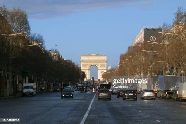 Des da avenida Champs-Elysées em Paris