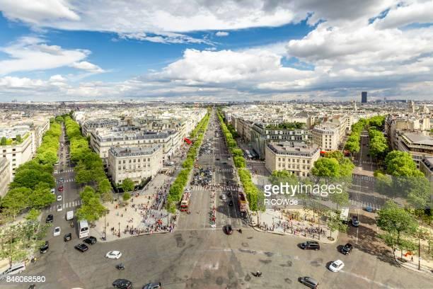 Avenue des Champs-Élysées seen from the Arc de Triomphe