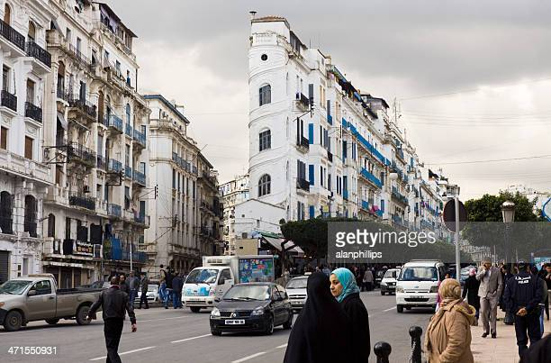 avenue el khettabi in algiers - algiers algeria stock pictures, royalty-free photos & images