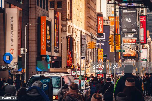 avenue in midtown manhattan, new york city - アベニュー ストックフォトと画像