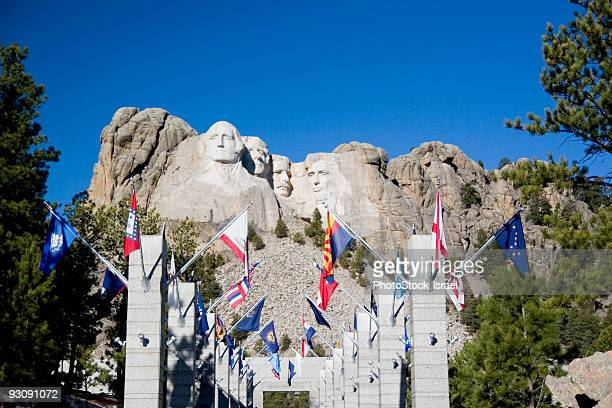 avenue of flags  - avenue stock pictures, royalty-free photos & images