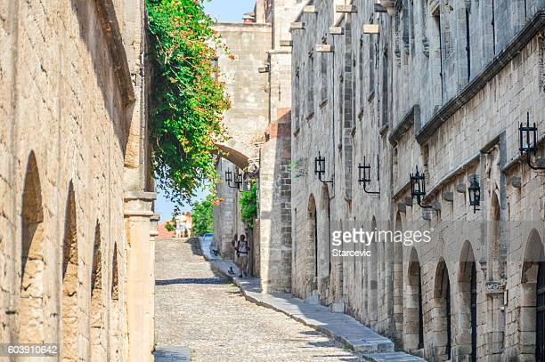 Avenue of the Knights in Rhodes, Greece