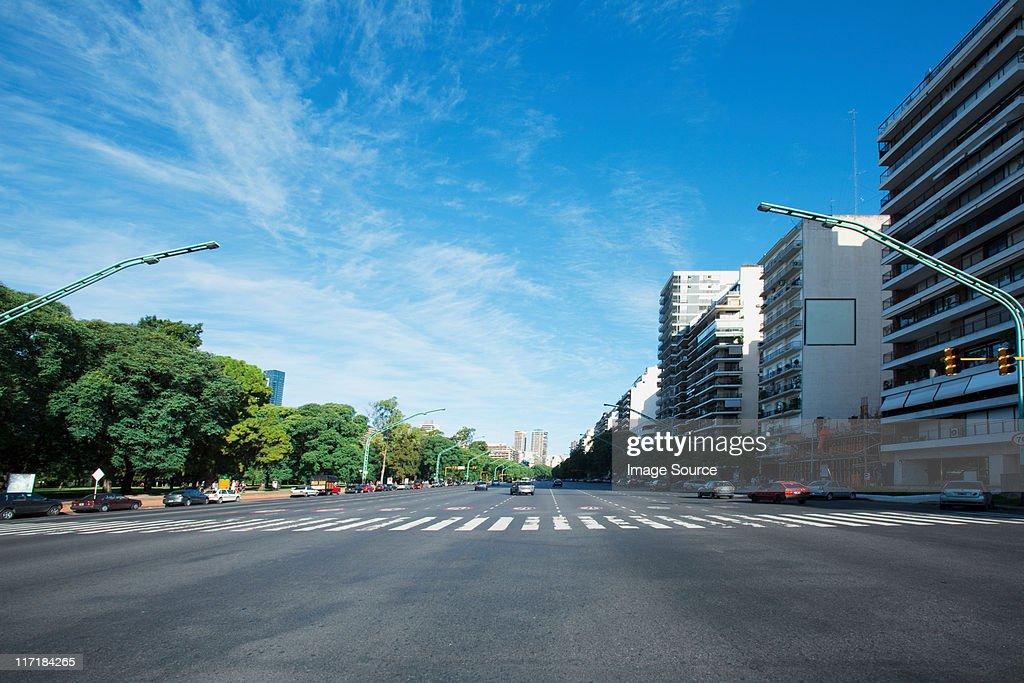 Avenue of the liberator, Buenos Aires, Argentina : Foto de stock