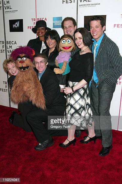 Avenue Q cast during 4th Annual Tribeca Film Festival Show Business Premiere Inside Arrivals at Tribeca Performing Arts Center in New York City New...